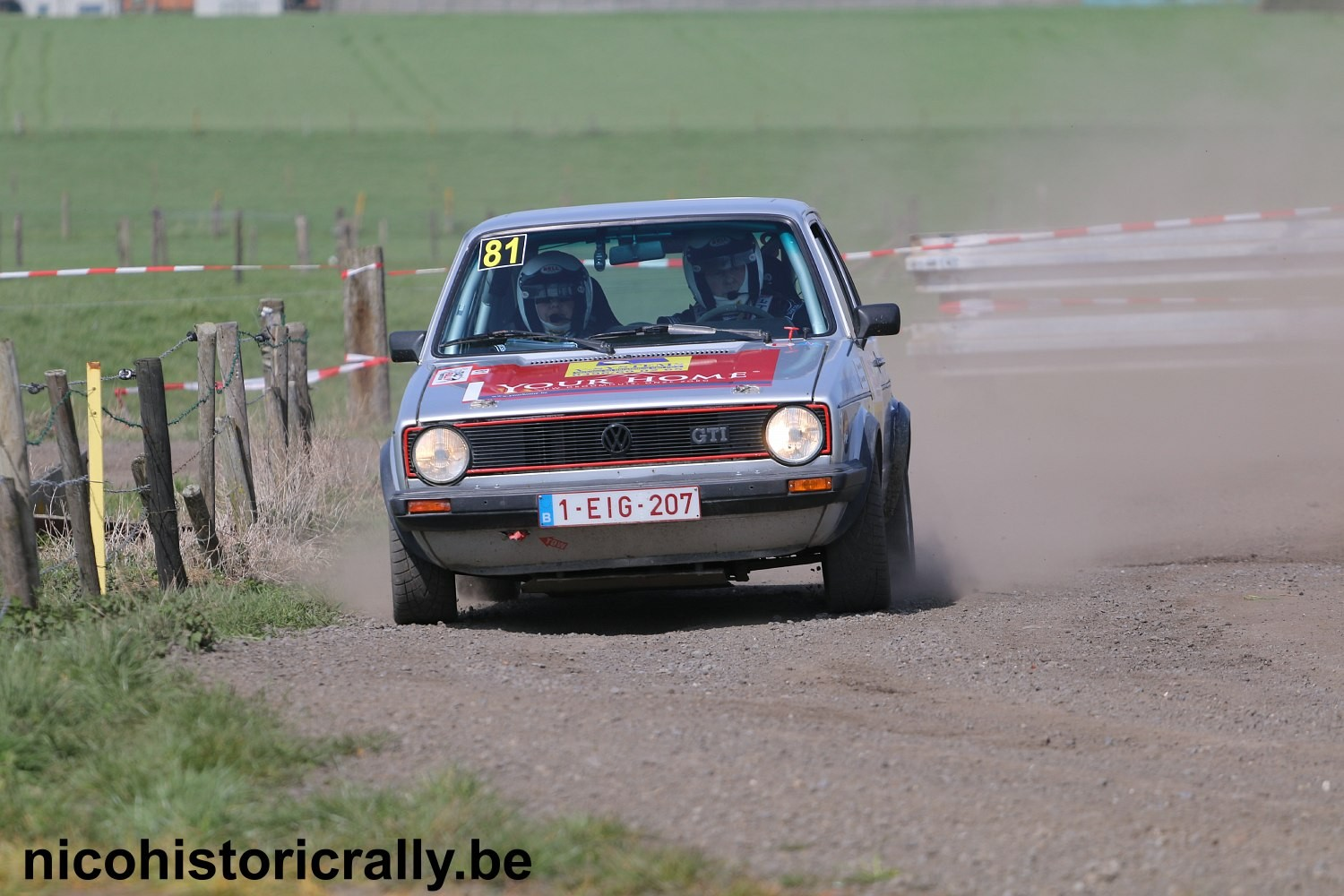 Philippe Vallaeys in de TAC Rally.