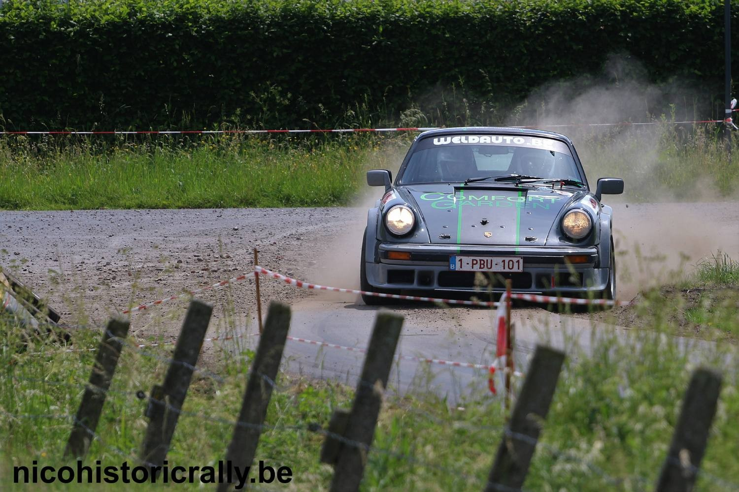 Geert Lacour in de ORC Rally.