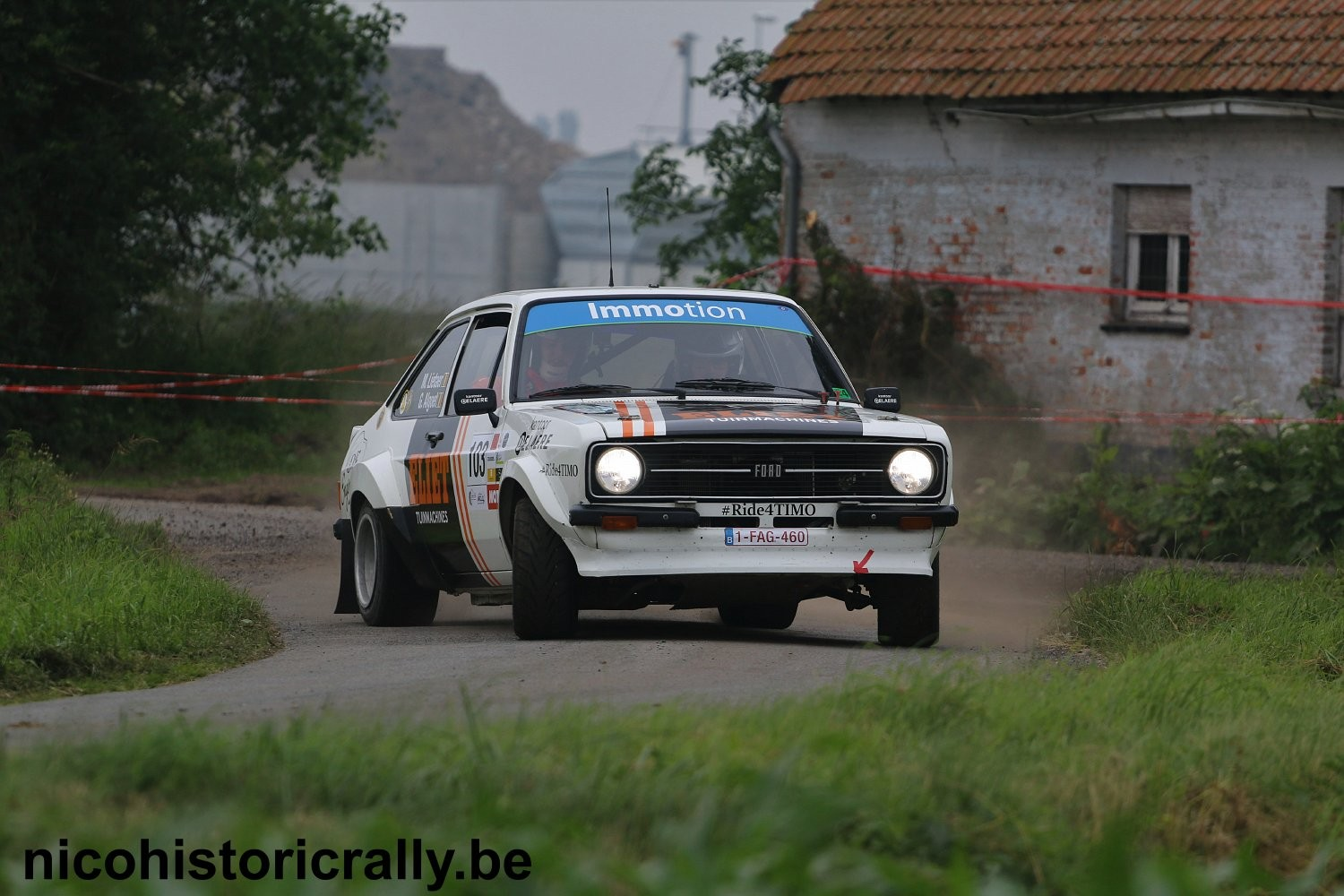 Mathieu Lietaer in de Rally van Wervik;
