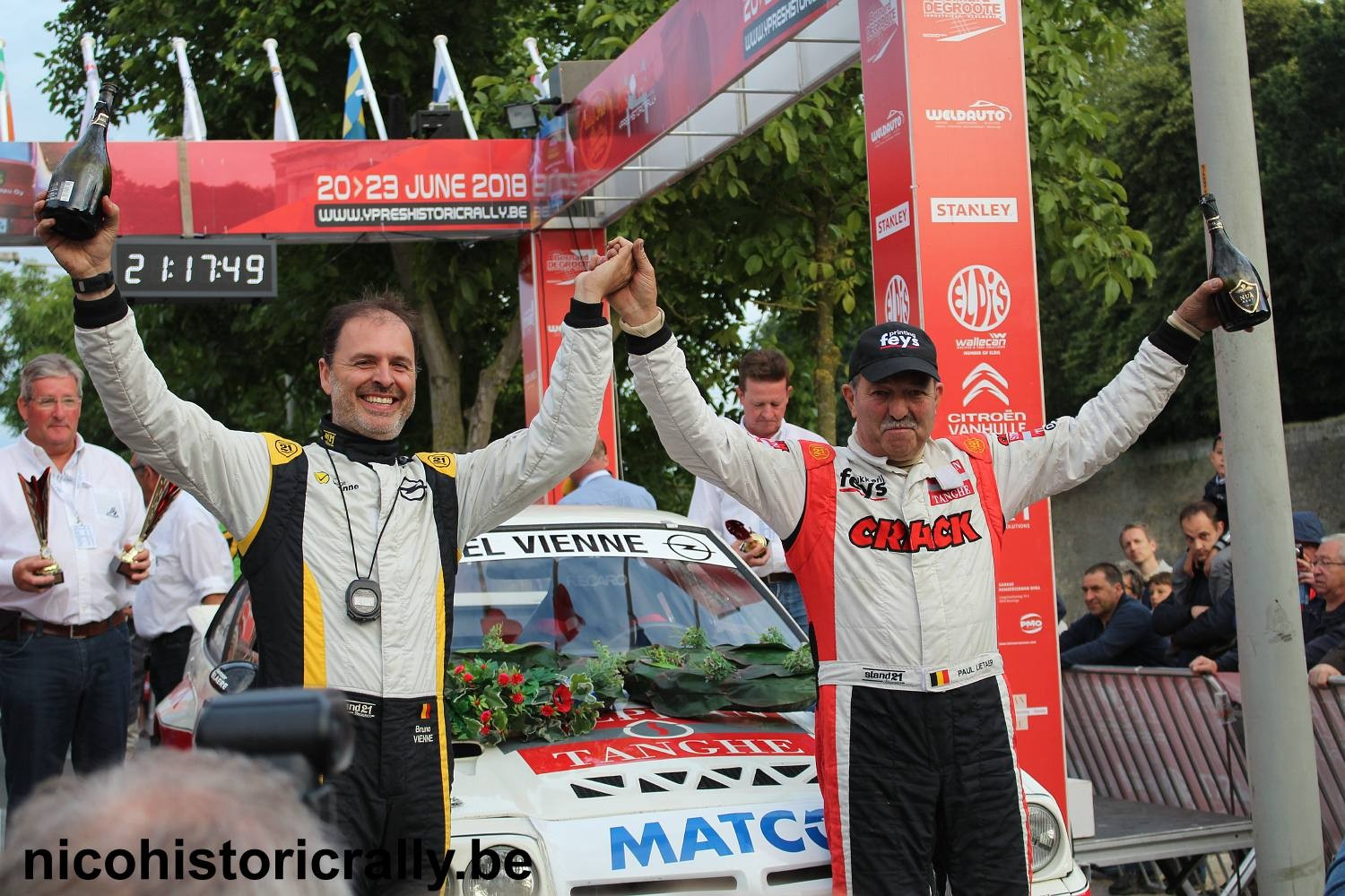 Verslag FIA LAS VEGAS YPRES HISTORIC RALLY: Polle wint maar Stouf rijdt bijna alle scratches !