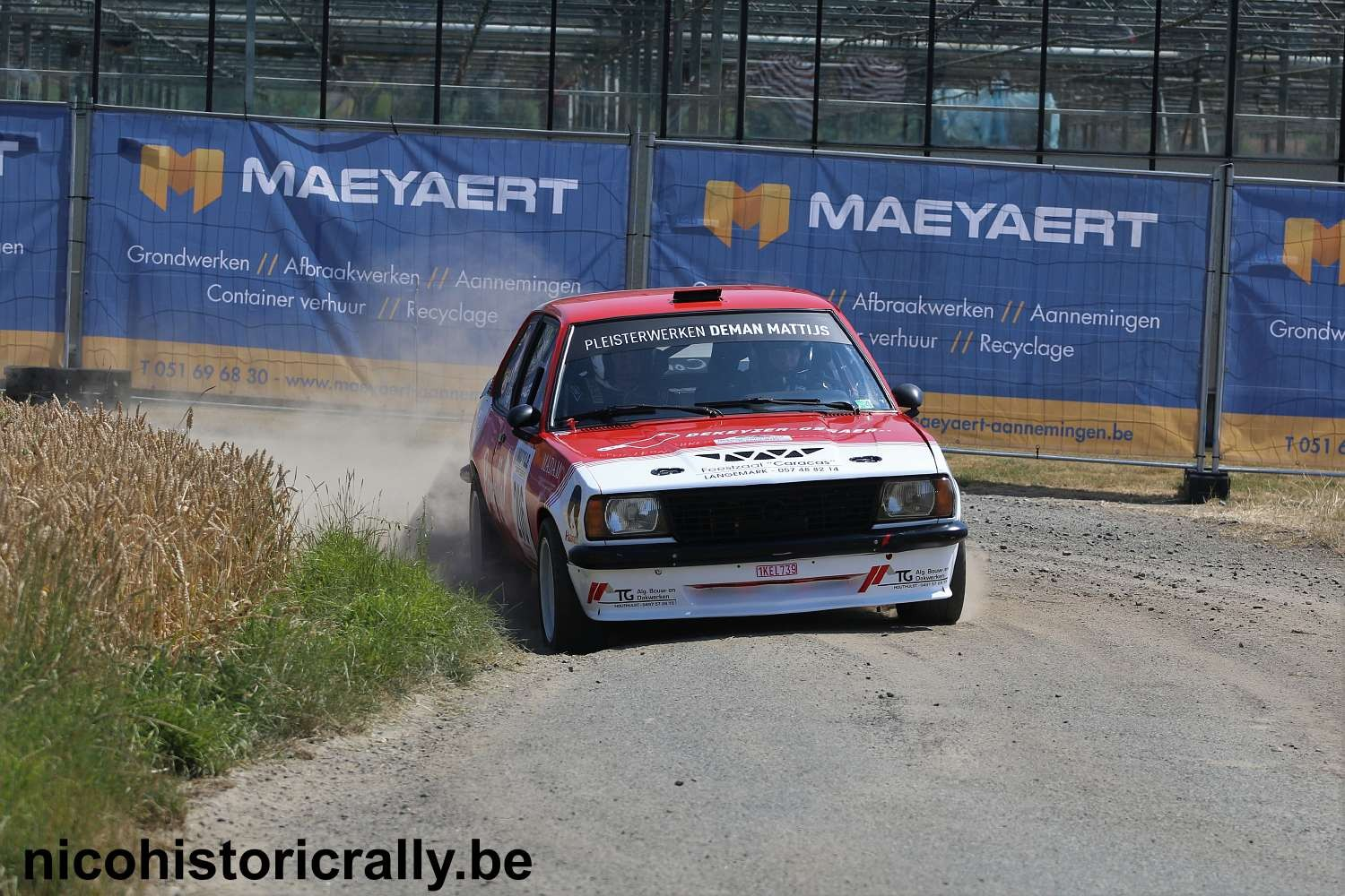 Simon Puype in de TBR Rallysprint.