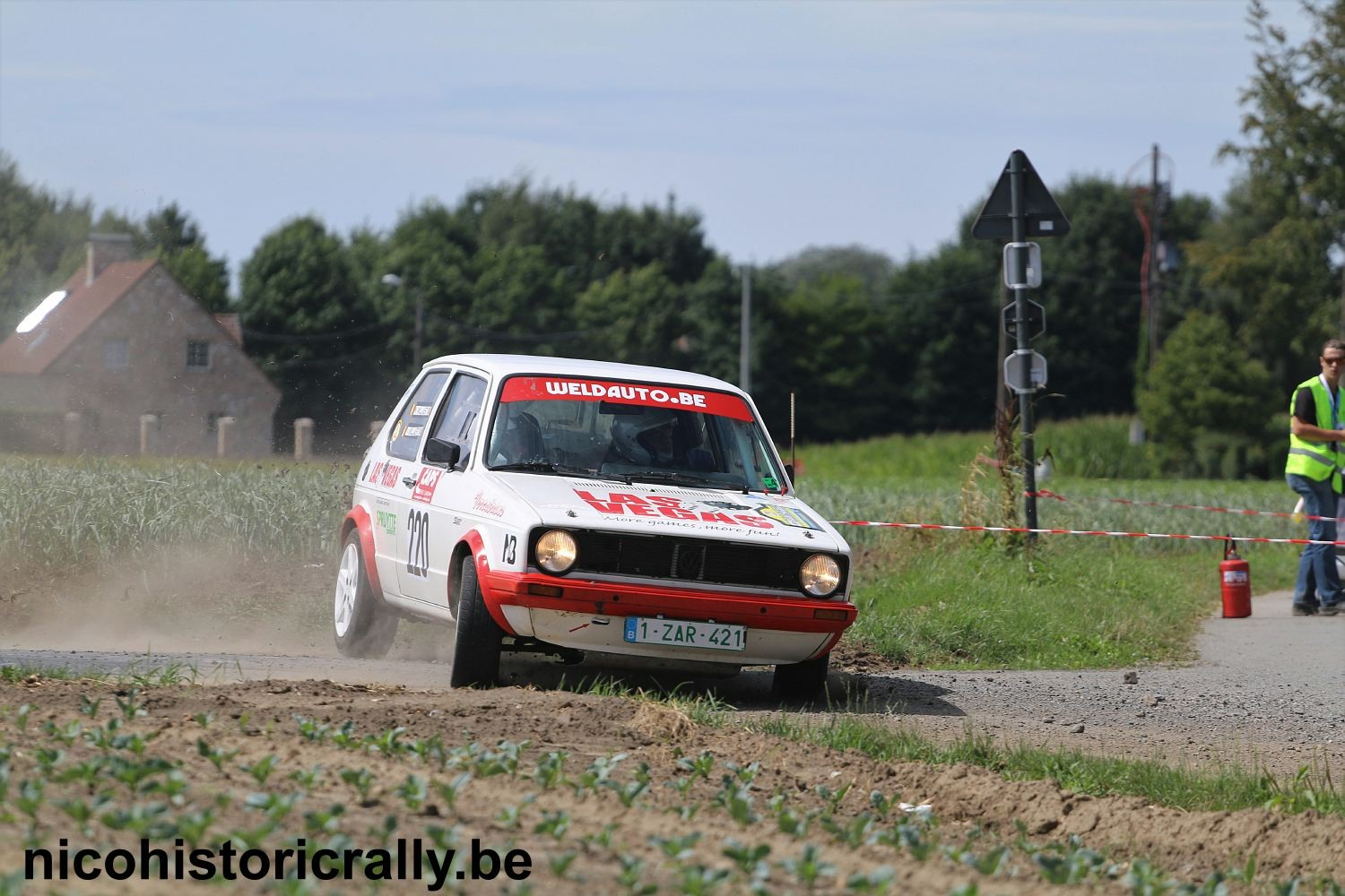 Kris en Joren Willaert in de Rally van Staden.