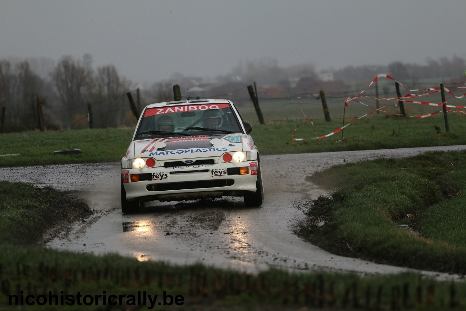 Verslag Rallysprint van Moorslede: Paul Lietaer demonstreert met zijn Ford Escort Cosworth !